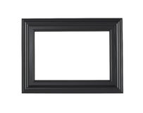 Черная картинная рамка, изолированная с путем клиппирования стоковые фотографии rf