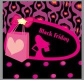 Черная карточка продажи пятницы Стоковые Фотографии RF