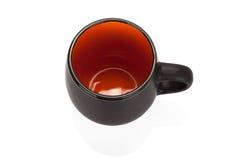 Черная керамическая пустая чашка на белой предпосылке иллюстрация вектора