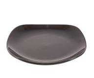 Черная керамическая плита шара Стоковые Изображения RF