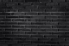 Черная кирпичная стена для предпосылки Стоковая Фотография RF