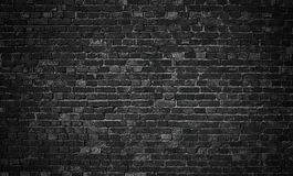 Черная кирпичная стена, предпосылка кирпичной кладки для дизайна Стоковые Изображения RF
