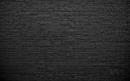 Черная кирпичная стена, предпосылка кирпичной кладки для дизайна Стоковые Фотографии RF