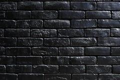 Черная кирпичная стена с космосом дизайна Стоковые Фото