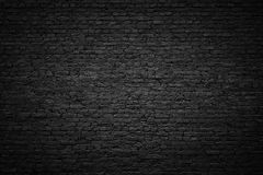 Черная кирпичная стена, темная предпосылка для дизайна Стоковое Изображение RF
