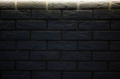 Черная кирпичная стена для предпосылки Стоковое фото RF