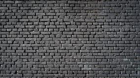 Черная кирпичная стена Стоковое Фото