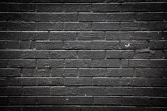 Черная кирпичная стена Стоковая Фотография
