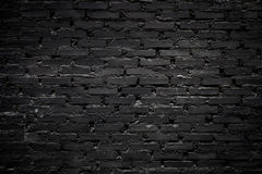 Черная кирпичная стена Стоковые Фото