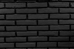 Черная кирпичная стена Стоковое Изображение RF