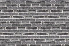 Черная кирпичная стена grunge Стоковые Фото