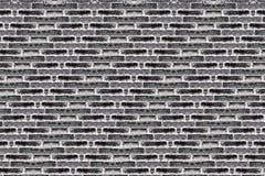 Черная кирпичная стена grunge Стоковое Фото