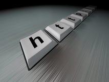 черная клавиатура интернета Стоковое Изображение