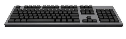 черная клавиатура Иллюстрация вектора