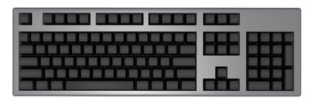 черная клавиатура Иллюстрация штока