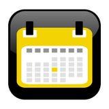 Черная кнопка: Календарь иллюстрация вектора