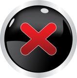 черная кнопка Стоковое Изображение