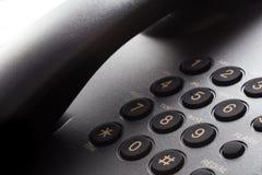 Черная кнопочная панель телефона Стоковые Фотографии RF