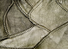 черная кожаная заплатка Стоковая Фотография