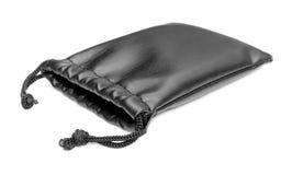 Черная кожаная сумка мешка стоковые изображения rf