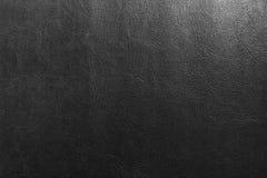 Черная кожаная текстура, кожаная предпосылка текстуры Стоковое фото RF