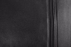Черная кожаная текстура сумки Стоковая Фотография