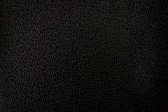 Черная кожаная текстура для дизайна Grunge Стоковые Изображения