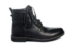 черная кожа ботинка Стоковое Изображение RF