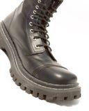 черная кожа ботинок Стоковое Изображение RF