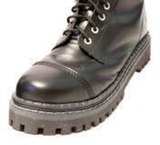 черная кожа ботинок Стоковое фото RF