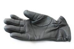 черная кожа для перчаток Стоковая Фотография