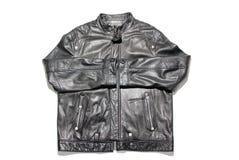 черная кожа куртки Стоковые Фото