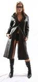 черная кожа куртки Стоковое Изображение