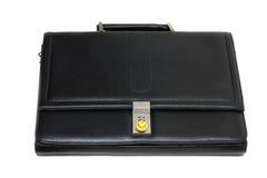 черная кожа портфеля стильная Стоковая Фотография