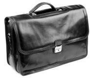 черная кожа портфеля Стоковая Фотография RF