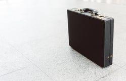 черная кожа портфеля Стоковая Фотография