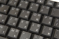 черная компьтер-книжка клавиатуры Стоковое Изображение
