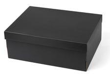 Черная коробка ботинка изолированная на белизне Стоковые Фото