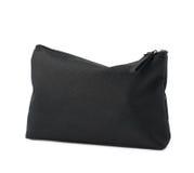Черная косметическая изолированная сумка Стоковые Изображения