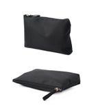 Черная косметическая изолированная сумка Стоковые Фотографии RF