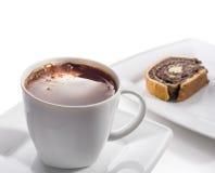 черная кофейная чашка торта Стоковые Фотографии RF