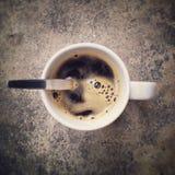 черная кофейная чашка Стоковое Фото