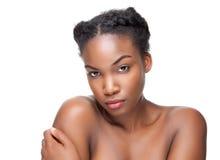 Черная красота с совершенной кожей Стоковые Изображения