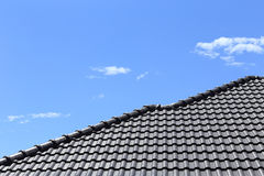 Черная крыша плиток Стоковое Фото