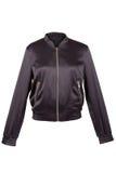 Черная куртка сатинировки Стоковые Изображения
