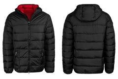 Черная куртка с клобуком стоковые изображения rf