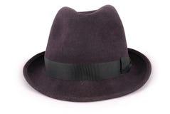 Черная классическая шляпа fedora & x28; Path& x29 клиппирования; Стоковые Изображения RF