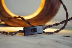 Черная лампа переключателя кнопки стоковая фотография