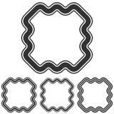 Черная линия набор дизайна логотипа маркетинга стоковые изображения