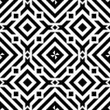 Черная линия предпосылка вектора картины геометрического конспекта диаманта безшовная Стоковая Фотография RF